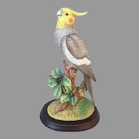 Vintage Andrea Cockatiel Figurine with Stand