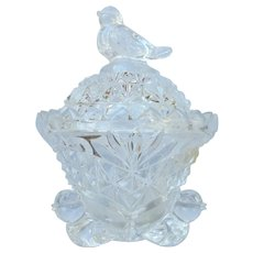 Vintage Hofbauer Byrdes Crystal Trinket Jar