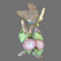 Vintage Audubon Arthur Singer Bluethroat Figurine