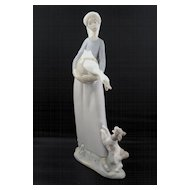 Lladro Figurine - Girl With Duck & Dog #4866