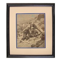 African American Soldier - Remington Engraving - 1886