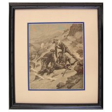 African American Soldier - Remington Engraving - 1886