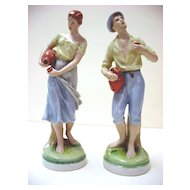 Royal Dux Porcelain Figurines,  Young Couple - Czechoslovakia