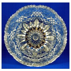 Libbey American Brilliant Period Cut Glass Bowl - Signed