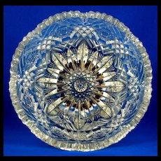 Libbey American Brilliant Period Cut Glass Bowl - Signed