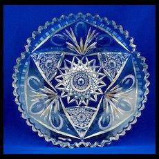 Libbey American Brilliant Period Cut Glass Bowl - 19th C
