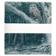 Owl and Hedgehog, Original Etchings by Laura Boyd