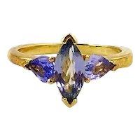 Tanzanite Ladies  Ring 14kt Yellow Gold