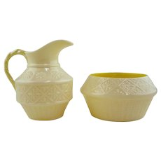 Irish Belleek  Sugar & Creamer 'Cleary' Pattern