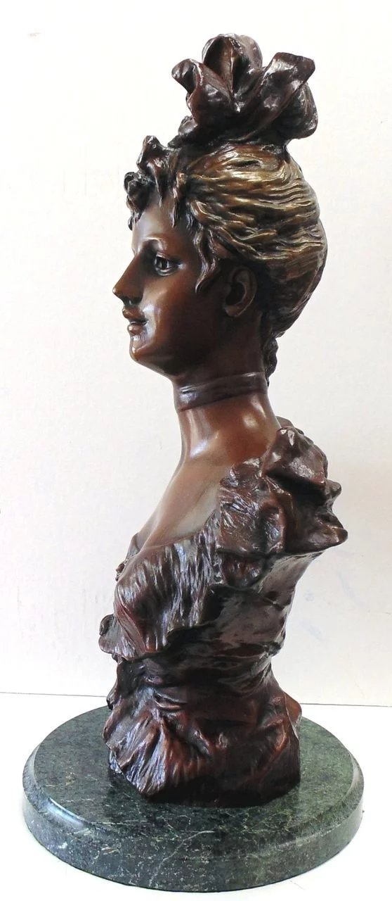 Bronze Sculpture Verna Bust After Pablo Rigual Seaside