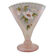 Fenton Fan Vase - Signed by Bill Fenton, 1996