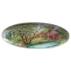 Hand Painted Lorenz Hutschenreuther  Oval Platter by Surber