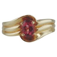 Pink Tourmaline Ring 14kt- Size 7 1/4