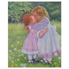 Oil Painting of Two Children by Joyce Schumacher