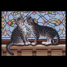 Original Acrylic Painting  by Sue Wall - Kittens