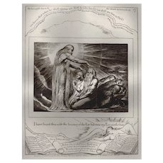 Antique by William Blake from the Book of Job, circa 1902