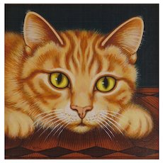 Cat - Original Art by Sue Wall