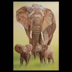 Original Oil Painting by Bev Abbott - Mother & Twins