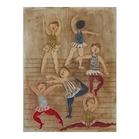 Original Aquatint by Graciela Rodo Boulanger - Ballet