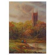 Original British Landscape Painting by Ron Cavalla