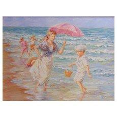 Summer Breeze-Original Oil Painting by Karin Schaefers