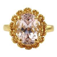 Kunzite Ring 14kt Yellow Gold - 6 1/2