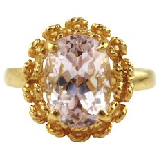 Kunzite Ring 14kt Yellow Gold - 6 1/2