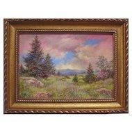"""North Carolina Balds"", Original Miniature Acrylic Painting by Catherine Girard"