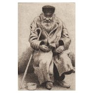 """The Beggar Series"", Original Etchings by David Hunter-Set of 3"