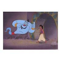 Aladdin & Genie, Original Production Animation Cel from Disney's Aladdin, the Series