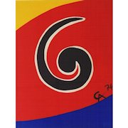 """Swirl"", Original Color Lithograph by Alexander Calder"