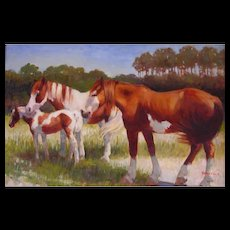 Original Oil Painting by Jean Cook-Paints At Wanchese, NC