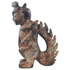Chinese Hard Stone Sculpture of a Zoomorphic Figure