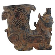 Chinese Hard Stone Figure Vessel