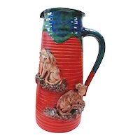 Japanese 19/20TH C  Sumida Gawa Vase With Handle