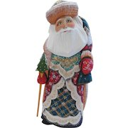 Russian Santa Red & Green -Hand Carved & Painted