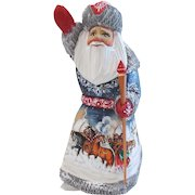 Russian Santa/Father Christmas With Winter Snow Scene