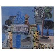 Le Casino de La Jetee a Nice, Original Wood Engraving after Raoul Dufy (Fr. 1877-1953)