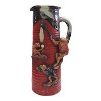 Japanese 19/20TH C Sumida Gawa Vase with Monkeys
