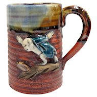 Japanese Pottery-Sumida Gawa Small Mug With Monkey