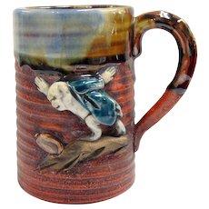 Japanese Pottery-Sumida Gawa Small Mug With Monkey
