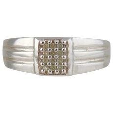 Diamond Man's Ring 10kt White Gold