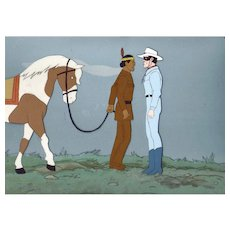 Lone Ranger and Tonto-Production Animation Cel