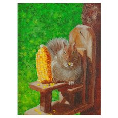 Original Oil Painting  by Nancy Garcia - Miniature