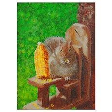 Original Oil Painting  by Nancy Garcia - Miniature