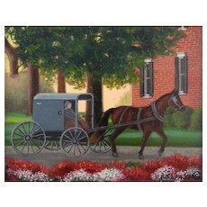 Original Oil Painting  by B J Lawson - Miniature