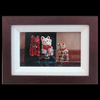 Original Oil Painting by Debra Keirce-Bell the Cat
