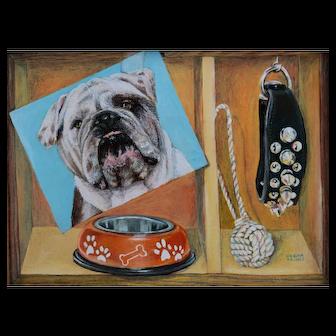 Original Oil Painting by Debra Keirce-Bull Dog