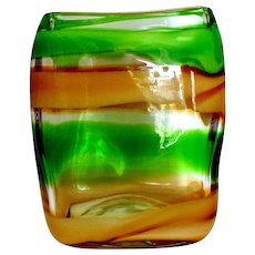 Waterford Evolution 'Peridot Whisper' Square Vase