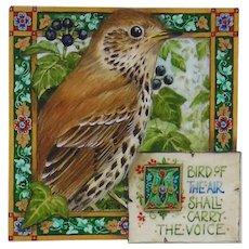 Miniature Oil Painting by Debby Faulkner-Stevens- A Bird of the Air (Thrush)